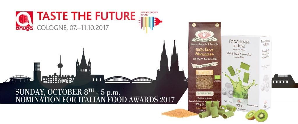 Italian Food Awards 2017 Cologne Germany Anuga Taste the Future Rustichella d'Abruzzo 100% organic farro Abruzzo whole wheat cous cous Kiwi Paccherini TRITICUM DICOCCUM Food & Beverage italianfood.net Food b2b